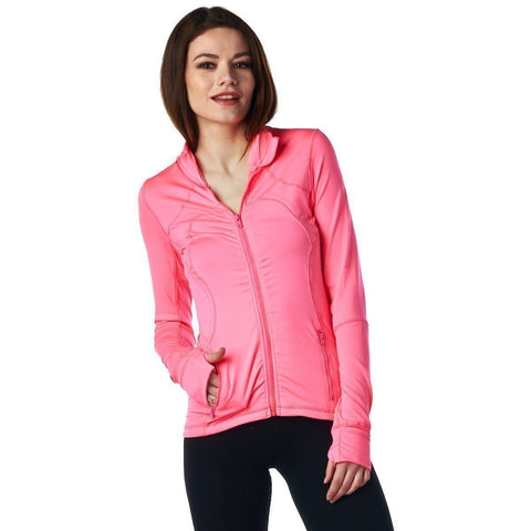 Image of LA Society Women's Yoga Sport Fitness Jacket in Pink
