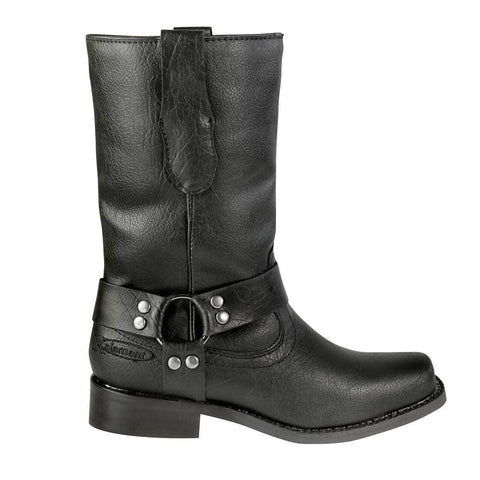 Image of Xelement LU7028 Black Children's Harness Leather Boots