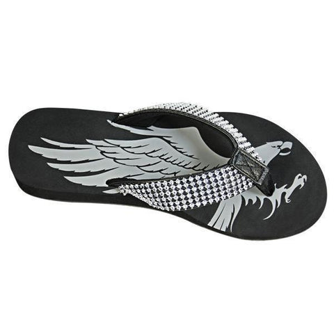 Image of Xelement LU8590 Women's Black Diamond Eagle Sandals