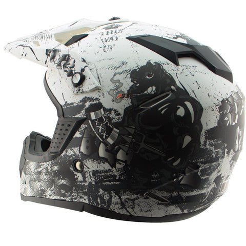 Image of Nikko N715 'Crosshelm ' Matte White/Black Motocross Helmet