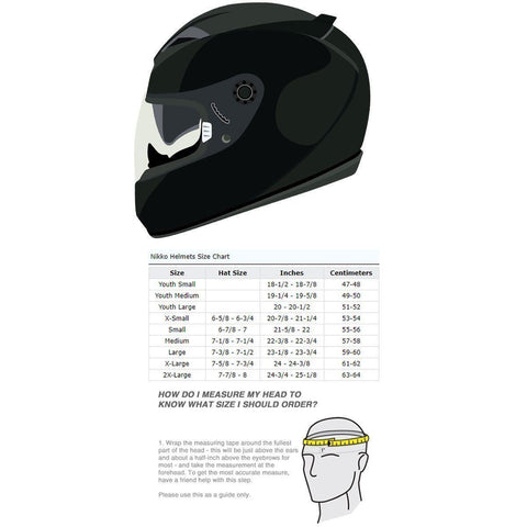Image of Nikko N916 Matte Black Full Face Helmet