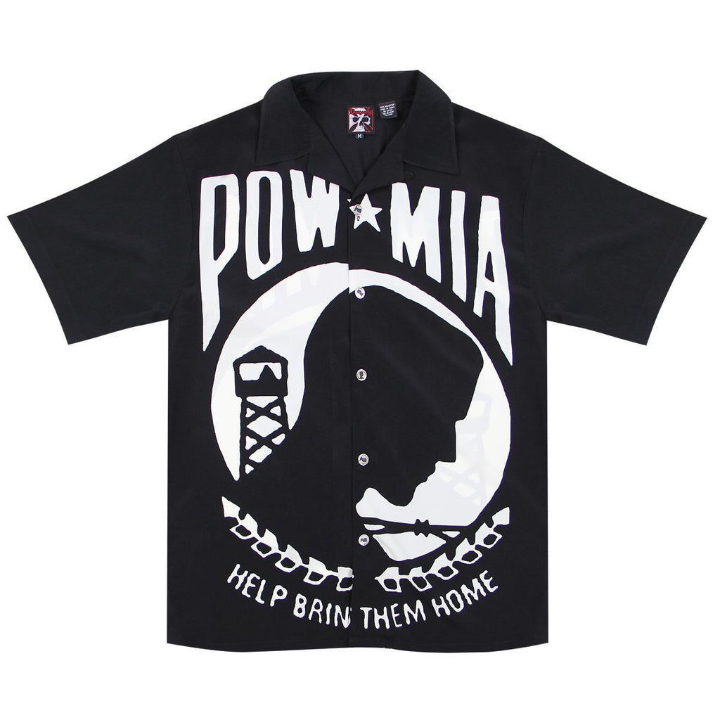 Dragonfly Roadhouse POW MIA Button up Short Sleeve Shirt