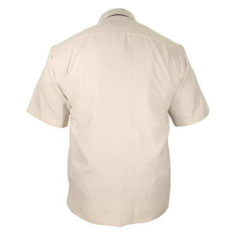 Image of Rockhouse Card Suites Creme White Button up Short Sleeve Shirt