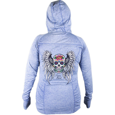 RideRDie Clothing RLAH001 'Free Birdl' Ladies Purple Hoodie with Front Zipper Closure