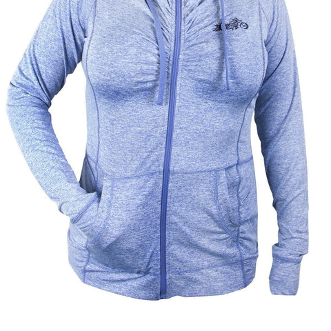 Image of RideRDie Clothing RLAH001 'Free Birdl' Ladies Purple Hoodie with Front Zipper Closure