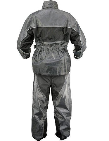 Xelement RN4793 Men's Gray/Black 2-Piece Motorcycle Rain Suit