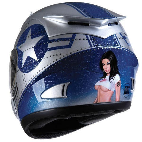 Torc T-10 Prodigy Silver Fighter V2 Full Face Helmet
