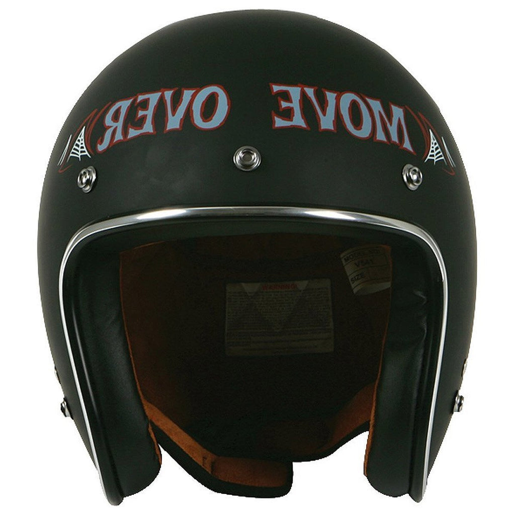 Torc T-50 Route 66 Move Over Flat Black Open Face Helmet