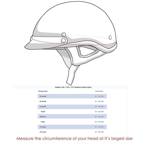 Image of Outlaw T-72 Dual-Visor Glossy Motorcycle Half Helmet with Graphics of Viking God and Viking Symbols