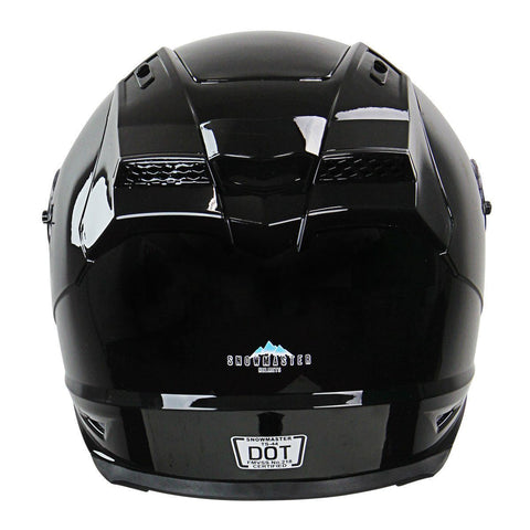 Image of Snow Master TS-44 Black Full Face Snowmobile Helmet