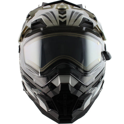 Snow Master TX-27 White/Black DS Snowmobile Helmet
