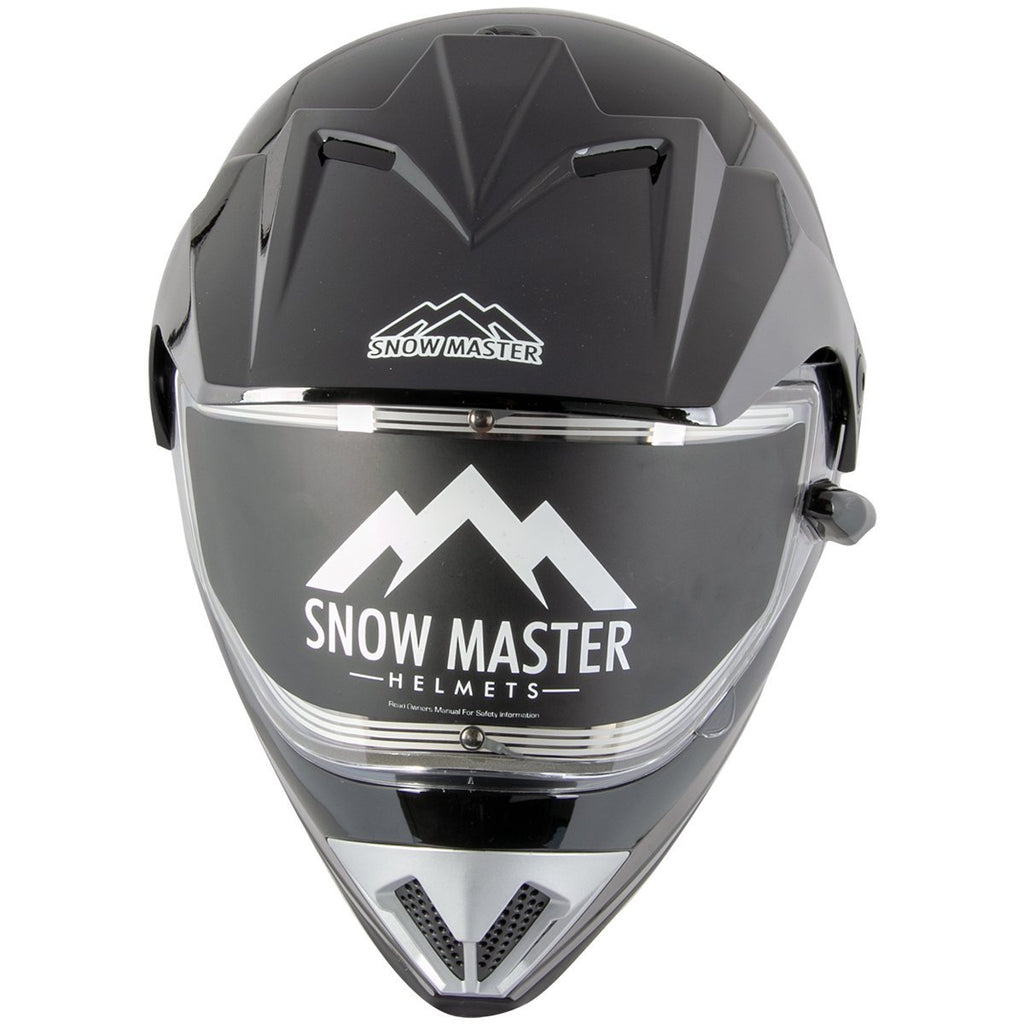 Snow Master TX-45 Gloss Black Dual Sport Snowmobile Helmet