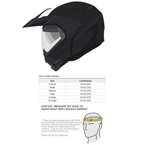 Image of Snow Master TX-50 Silver Modular Dual Use Snowmobile and Street Helmet