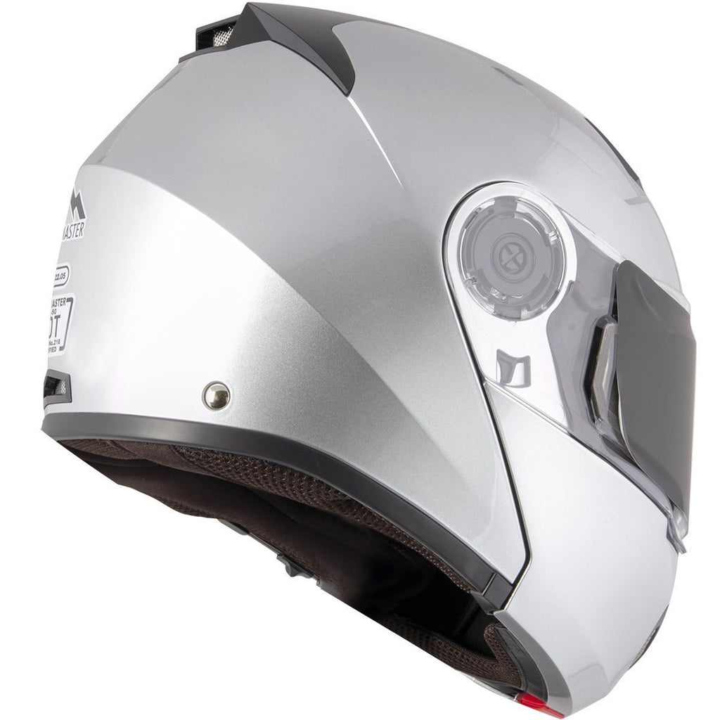 Snow Master TX-50 Silver Modular Dual Use Snowmobile and Street Helmet