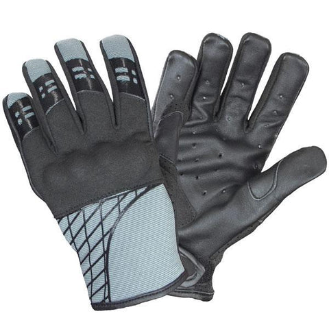 Image of Xelement UK264118 'Express' Men's Slate Gray Textile/Leather Gloves