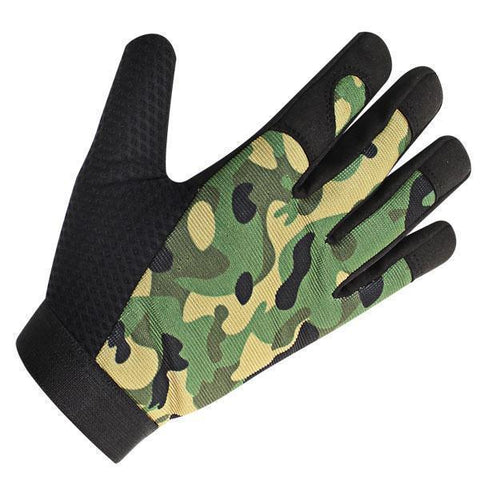 Image of Xelement UK2643 Men's Camouflage Textile Motorcycle Wrist Gloves