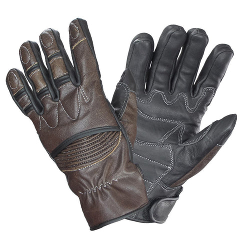 Xelement UK2678 'Vagabond' Men's Brown/Black Leather Gloves