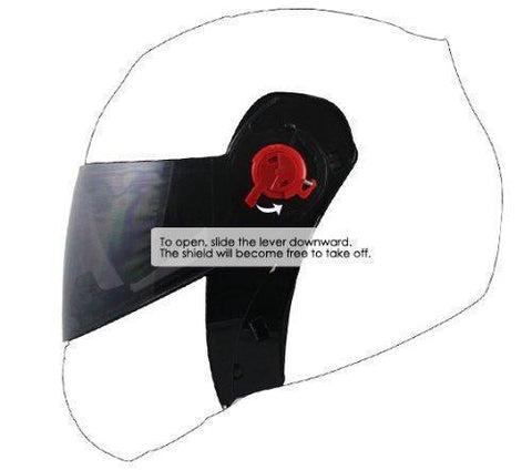 Image of Hawk Tinted Smoke Replacement Shield for H66XX Modular Series Helmets