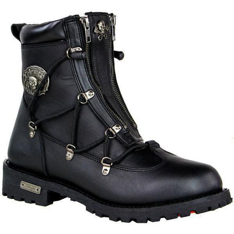 Image of Xelement X93007 BLACK 'Flathead' Men's Black Performance Leather Boots