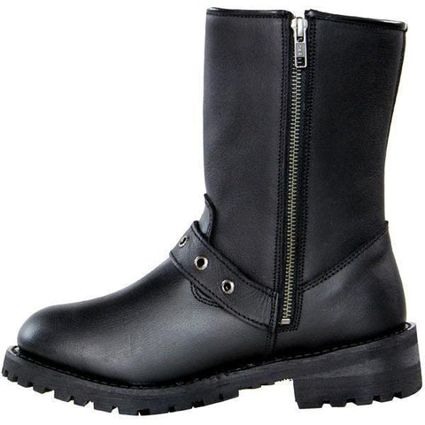 Image of Xelement X93010 BLACK 'Dahlia' Women's Black Performance Leather Boots