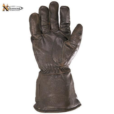 Xelement XG230 'Driving Retro' Men's Brown Leather Gauntlet Motorcycle Gloves