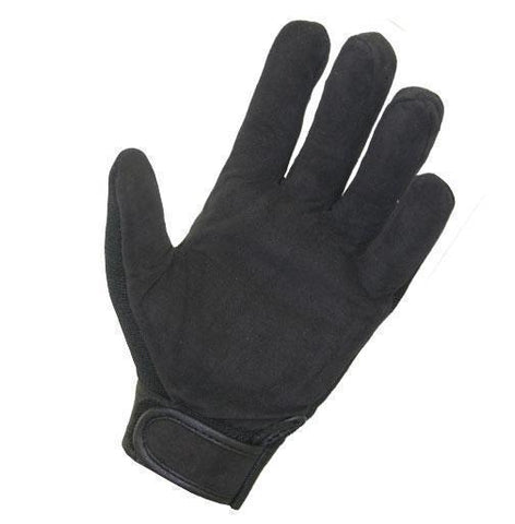 Image of Xelement XG44607 'Hardcore Mohawk' Men's Black Textile Mechanic Skull Gloves