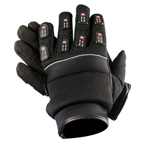 Xelement XG755 Men's Black Textile Padded Gel Palm Racing Gloves