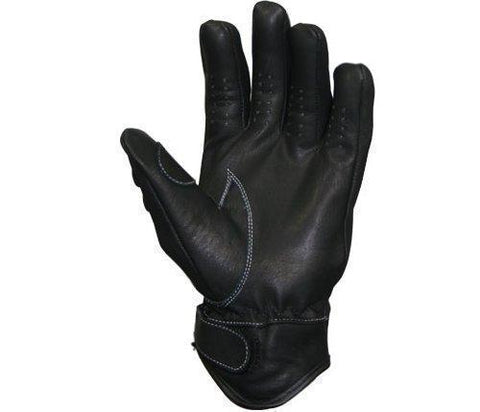 Image of Xelement 'Advanced' Mens Leather Motorcycle Gloves with Reflective Knuckle Guards