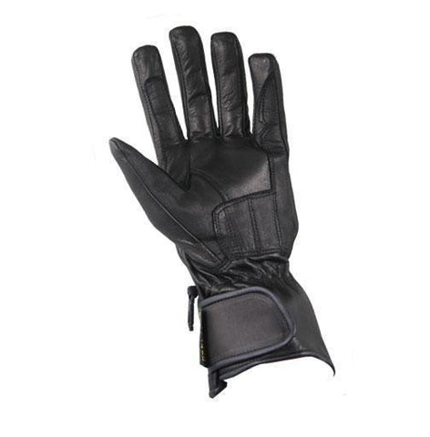Xelement XG451 Men's Black Premium Leather Padded Riding Gloves
