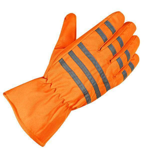 Xelement XS0405 'Gauntlet' Men's Neon Orange Waterproof Tri-Tex Textile Gloves