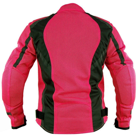 Image of Xelement XS3044 'Impulse' Women's Black/Hot Pink Mesh Tri-Tex Armored Motorcycle Jacket