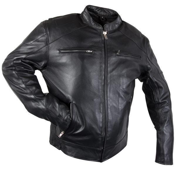 Xelement XS-3349 'Evade' Men's Black Leather Motorcycle Jacket