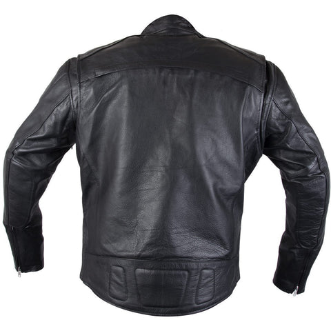 Image of Xelement XS-3349 'Evade' Men's Black Leather Motorcycle Jacket