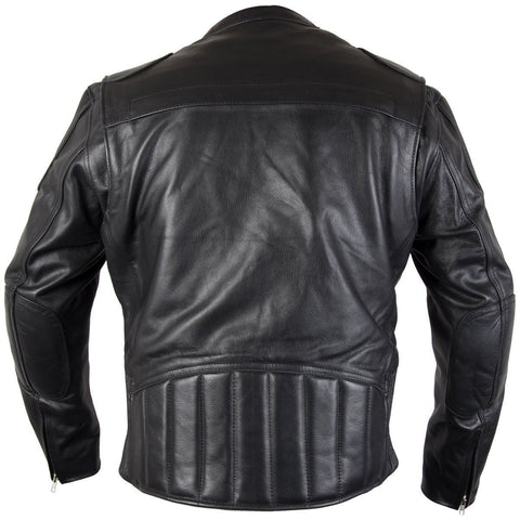 Image of Xelement XS-6229 'Turbulent' Men's Black Armored Leather Motorcycle Jacket