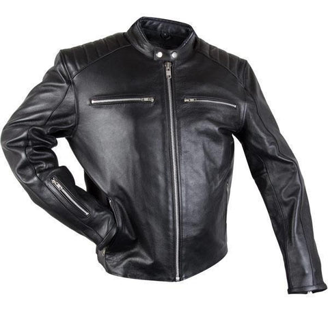 Image of Xelement XS-630 'Recoil' Men's Black Leather Motorcycle Jacket