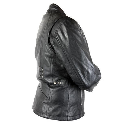 Image of Xelement XS631 'Raven' Ladies Black Premium Cowhide Leather Jacket with Gun Pocket and Zip-Out Liner