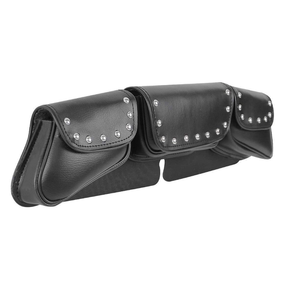 Xelement XS67105 'Safe Keep' Black Studded Motorcycle Windshield Bag