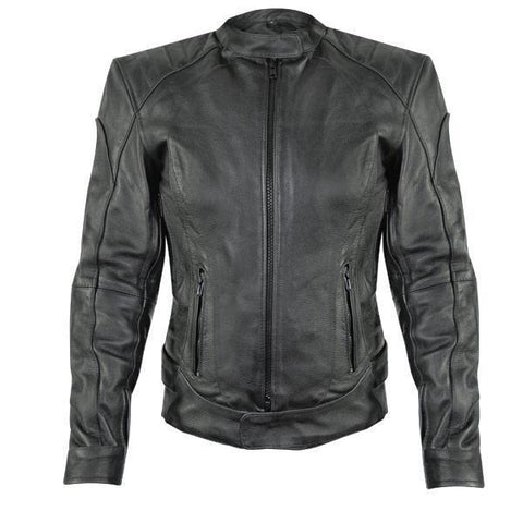 Xelement XS90045 'Rebel' Women's Black Leather Jacket