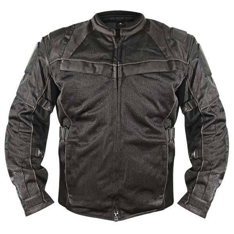 Xelement XS8160 'All Season' Men's Black Tri-Tex/Mesh Jacket