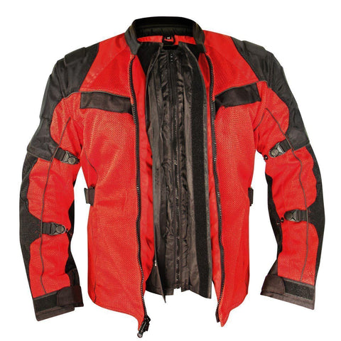 Xelement XS8161 'All Season' Men's Black/Red Tri-Tex/Mesh Jacket