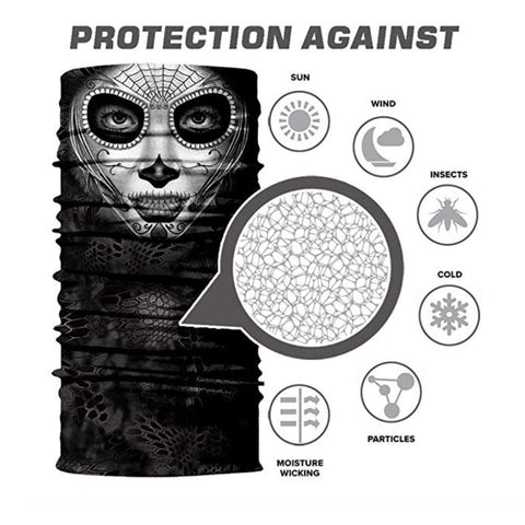 Image of Seamless UV Protection Face Mask for Motorcycle Riding