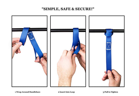 Soft Loop Handlebar Tie Down Straps