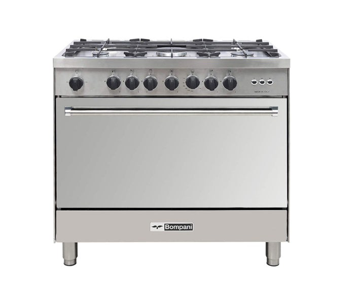 Bompani 5 Gas Burner 90x60cm Cooker with Full Gas Option Oven - BO693MQL