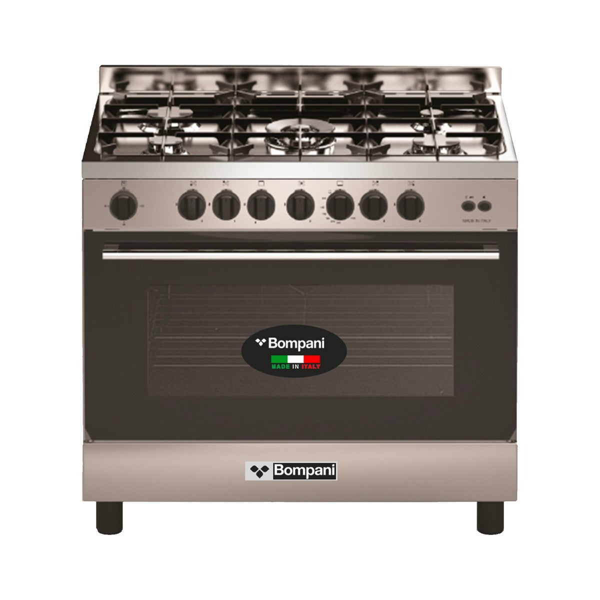 Bompani 5 Gas Burner 90x60cm Cooker with Full Gas Option Oven - BO693ND/L