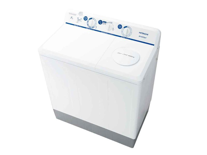 Hitachi Twin Tub 8kg washer And 8kg Spin (New Model) - PS-999EJ3CGXWH