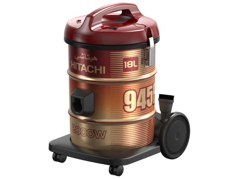 Hitachi Vacuum Cleaner Drum 2000w, Wine Red - CV-945F