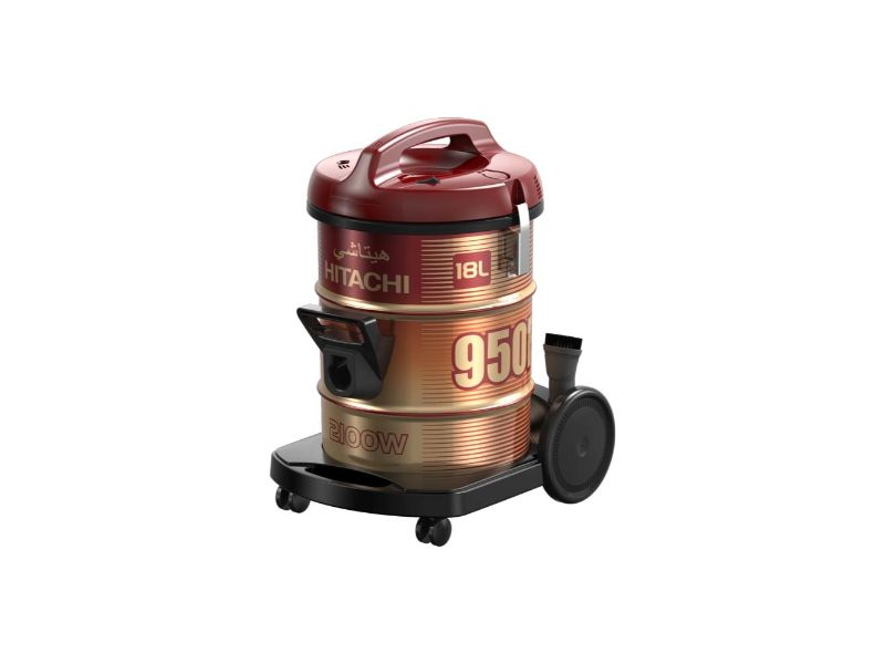 Hitachi Vacuum Cleaner Drum 2100w, Wine Red - CV-950F