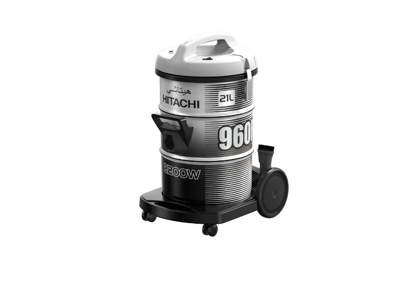 Hitachi Vacuum Cleaner Drum 2200w, Platinum Grey - CV-960F