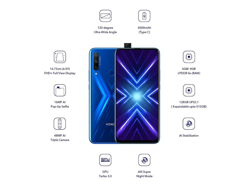 Honor 9X (6GB+128GB) Blue