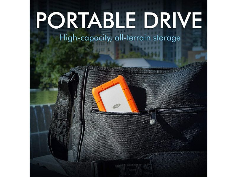 Seagate LaCie Rugged Portable 1TB External Hard Drive HDD USB-C USB 3.0 – STFR1000800